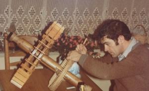 Bert Boonman begon met de bouw van een maquette van de watergetijmolen in Goes